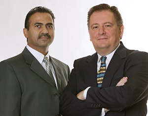 Phase Matrix Founders Mr. Charanbir Mahal (left) and Mr. Pete Pragastis (right)